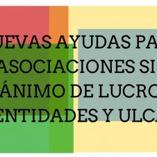 La convocatoria de ayudas para asociaciones, entidades y ULCA, abierta.