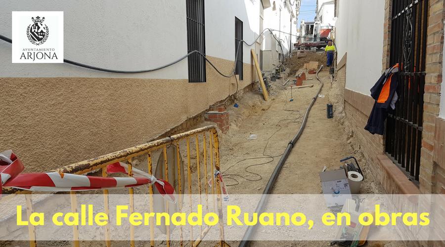 El Ayuntamiento de Arjona inicia las obras  de la calle Fernando Ruano.