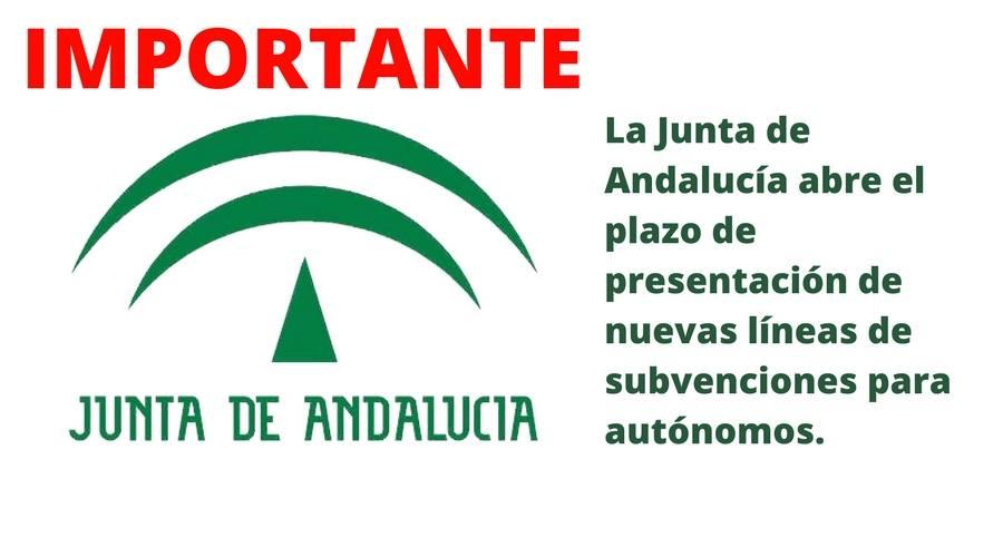 La Junta de Andalucía abre el plazo de presentación de las nuevas líneas de subvenciones para autónomos.