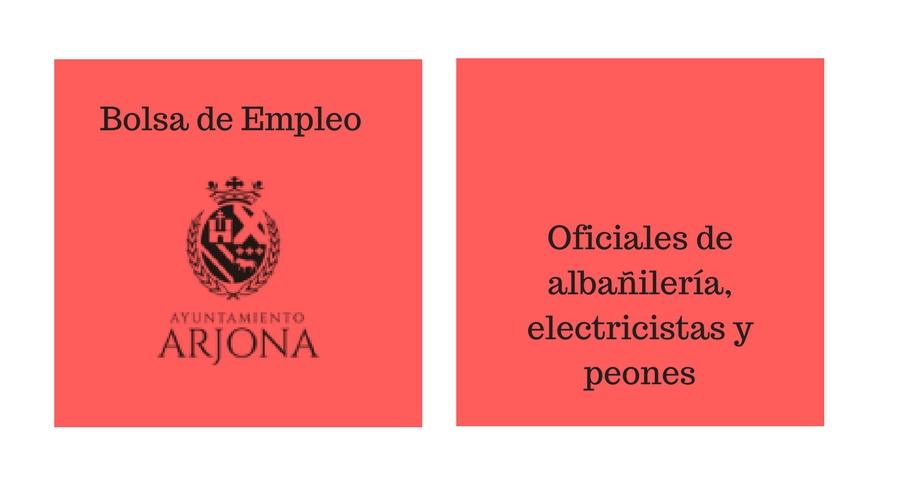 Bolsa de Empleo oficiales de albañilería, electricistas y peones.