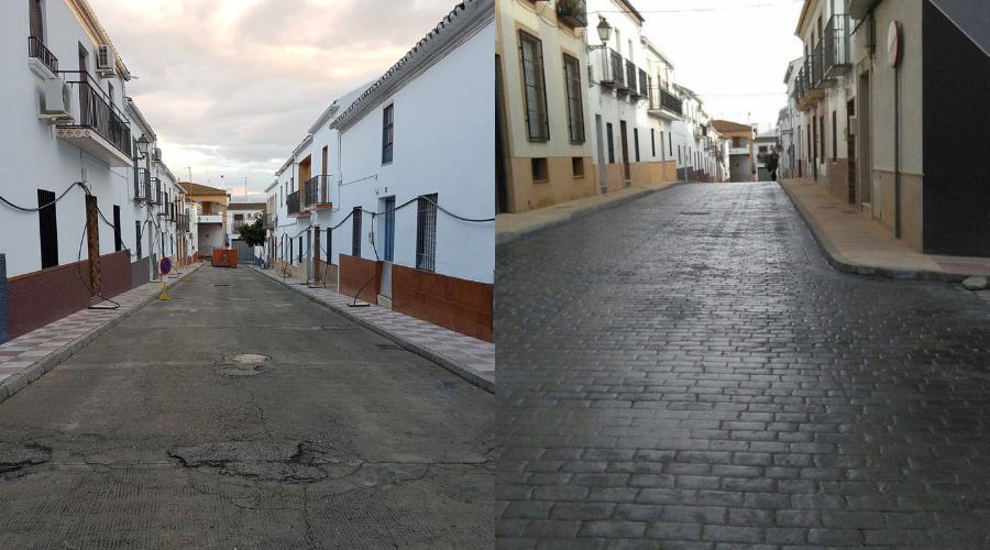 La calle Beatriz de Úbeda, reformada.