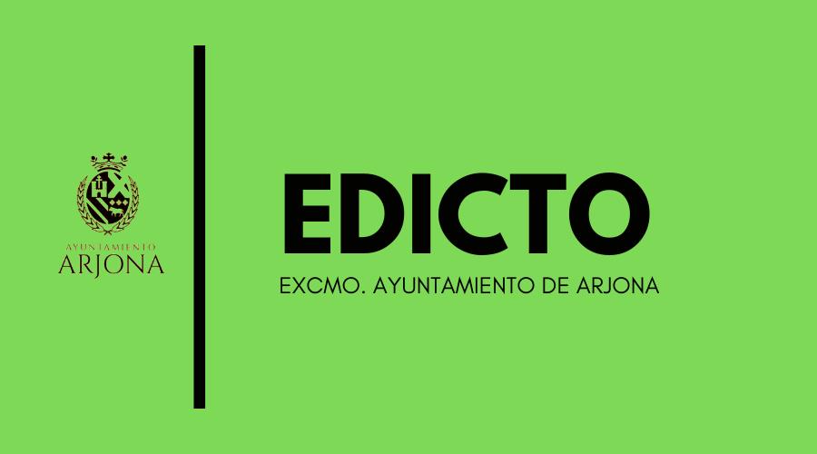 EDICTO ELECCIONES GENERALES