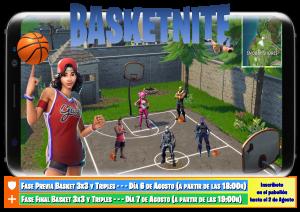 Cartel Basket 3x3 FiestaSantos 2019 (20 copias a color A3)