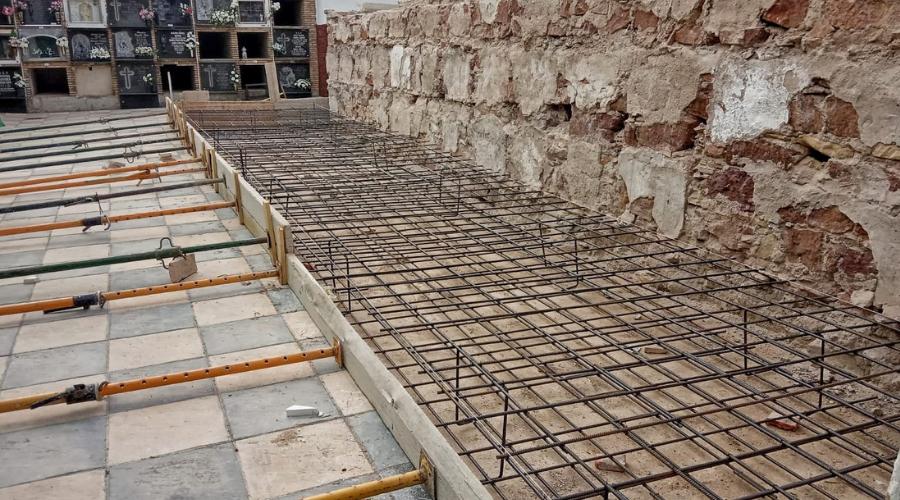 EL AYUNTAMIENTO DE ARJONA CONSTRUYE 120 NICHOS EN EL CEMENTERIO MUNICIPAL