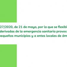 BOE: FLEXIBILIDAD CIERTAS RESTRICCIONES MUNICIPIOS PEQUEÑOS