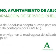 LA JUNTA ADOPTA NUEVAS MEDIDAS CONTRA LA COVID-19 (ACTUALIZADO)