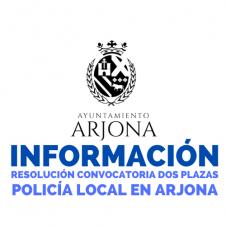 RESOLUCIÓN BOE 2 PLAZAS DE POLICÍA LOCAL EN ARJONA